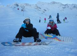 Winterfreizeit snowboard