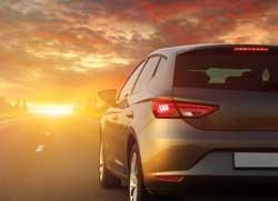 Auto Sonnenuntergang