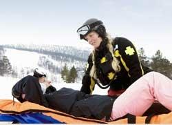 Skifahren Skiunfall