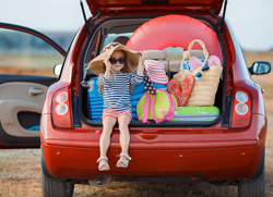 Kind Urlaub Auto